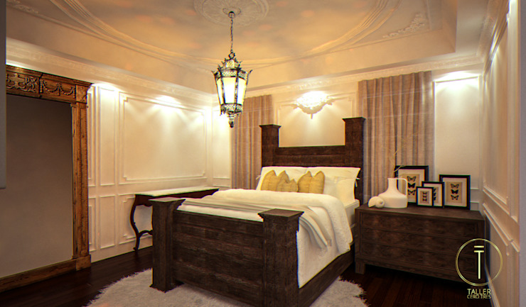 Eclectic style bedroom by Taller 03 Eclectic Wood Wood effect