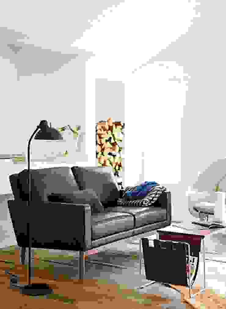 Sofa Raleigh de Design Within Reach Mexico Moderno Cuero Gris