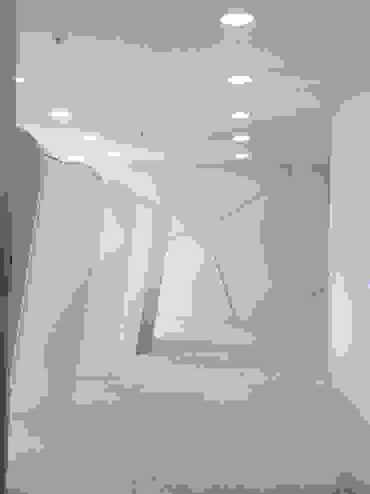 Proyecto de interiorismo futurista de Felipe Lara & Cía Moderno Sintético Marrón