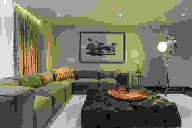 DEPARTAMENTO EN LOMAS Salas multimedia clásicas de HO arquitectura de interiores Clásico