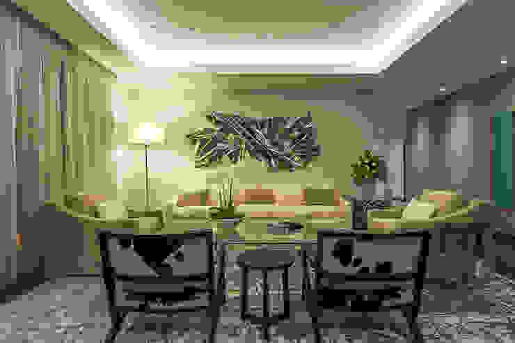 Klasyczny salon od HO arquitectura de interiores Klasyczny