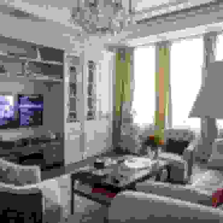 Классический интерьер и Умный дом - квартира-мечта! Гостиная в классическом стиле от Art-In Классический