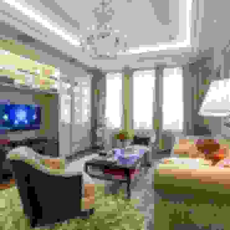 Классический интерьер и Умный дом – квартира-мечта! Гостиная в классическом стиле от Art-In Классический