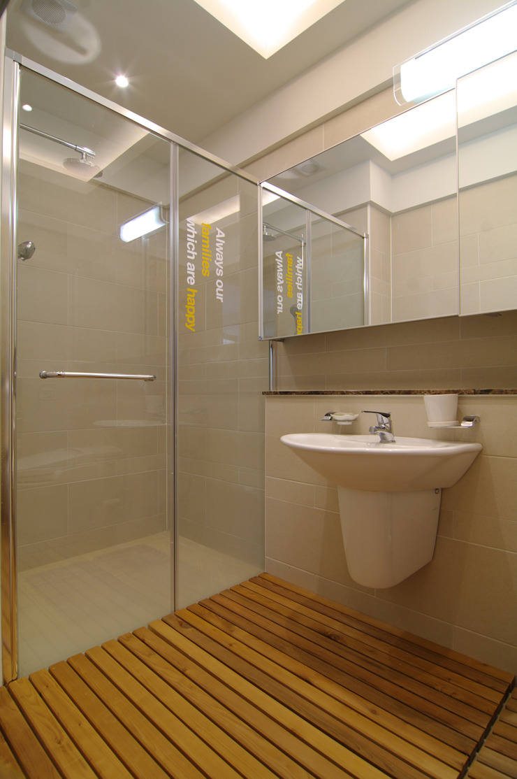 은평2지구 두산위브 42평형 모던스타일 욕실 by Design A3 모던