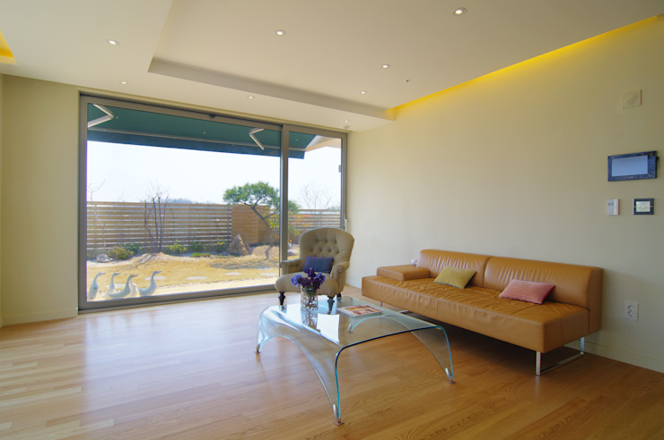 은평2지구 두산위브 42평형 모던스타일 거실 by Design A3 모던
