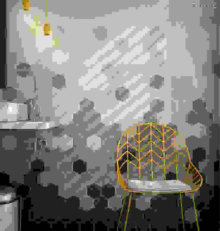 Scale Hexagon Baños de estilo mediterráneo de Equipe Ceramicas Mediterráneo Cerámico