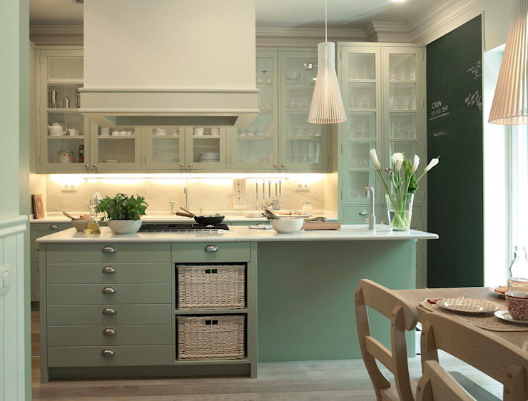 DEULONDER arquitectura domestica Kitchen Green