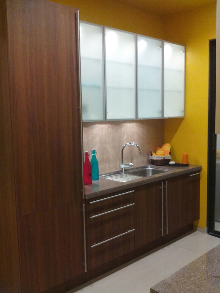 Residential Interior Project @ Mumbai Eclectic style kitchen by Nikneh studio Eclectic