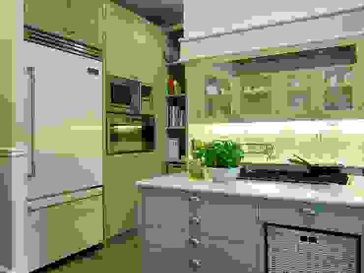 Horno y microondas en columna, junto al frigorífico americano Cocinas clásicas de DEULONDER arquitectura domestica Clásico