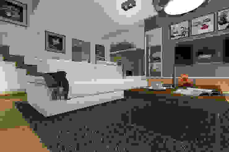 Modern living room by ABC Pracownia Projektowa Bożena Nosiła Modern