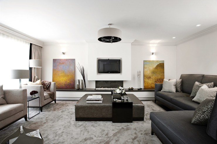 Monkhams Lane, Woodford Green Modern living room by Boscolo Modern