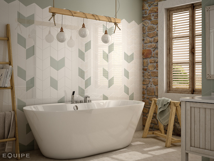 Equipe Ceramicas Rustic style bathroom Ceramic
