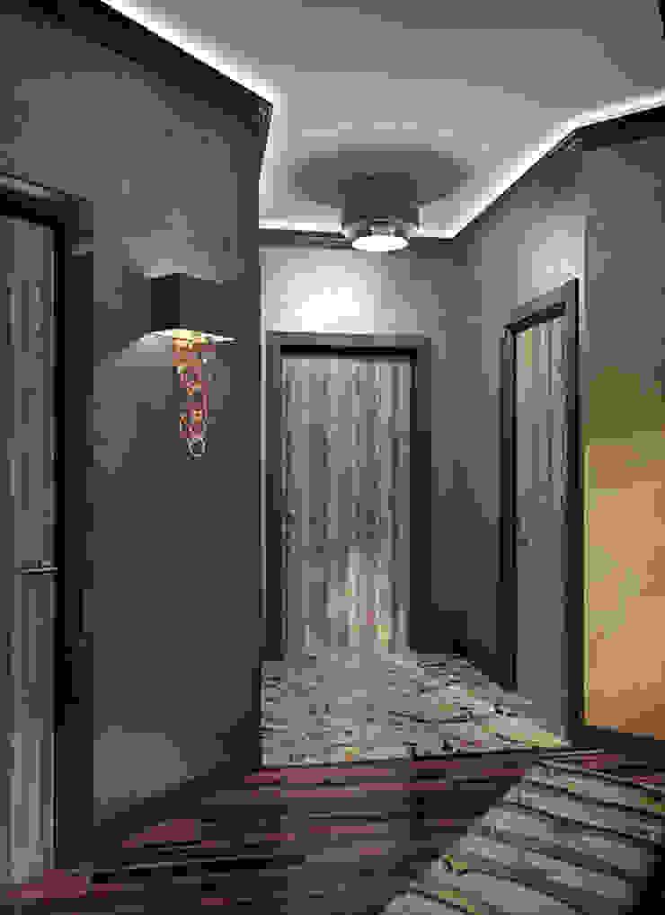 Couloir, entrée, escaliers modernes par Alena Gorskaya Design Studio Moderne