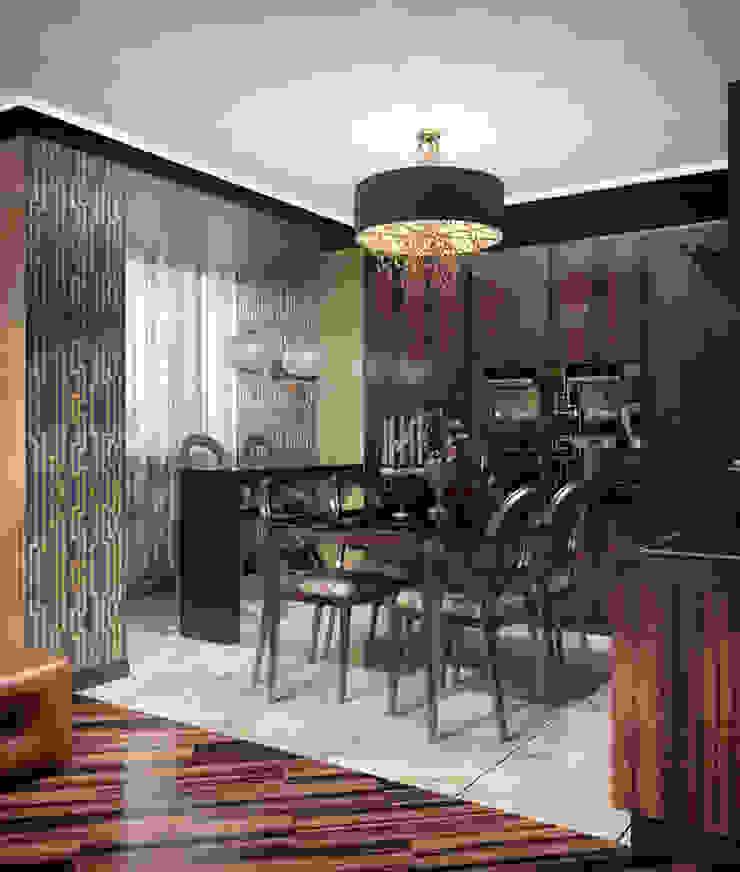 Alena Gorskaya Design Studio Modern style kitchen Brown