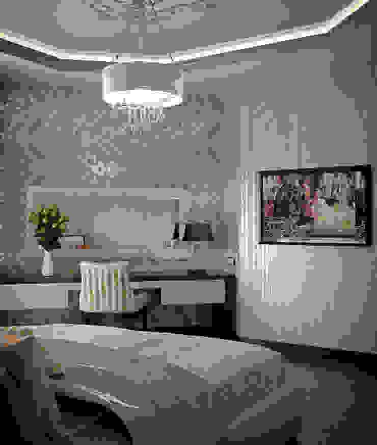 Alena Gorskaya Design Studio Modern style bedroom Beige