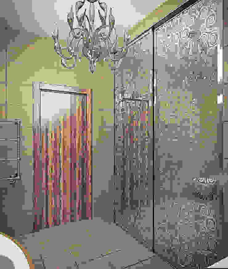 Alena Gorskaya Design Studio Modern style bathrooms Beige