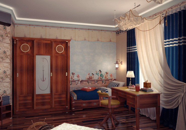 Alena Gorskaya Design Studio Nursery/kid's room Blue