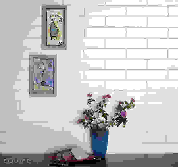 Evolution Blanco Mate 5x20 Baños de estilo moderno de Equipe Ceramicas Moderno