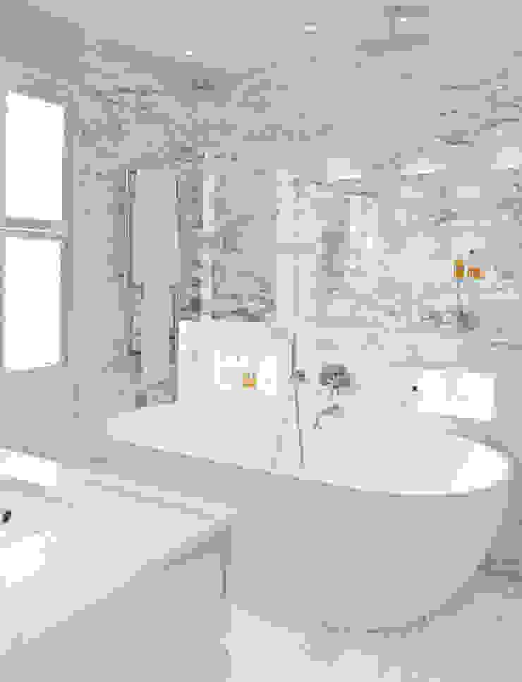 Bathroom at Newton Road House in Westbourne Grove. Nash Baker Architects Ltd Modern bathroom