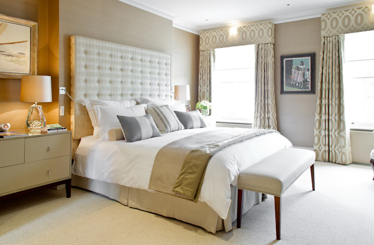 The Master Bedroom at Newton Road House. Nash Baker Architects Ltd Modern style bedroom