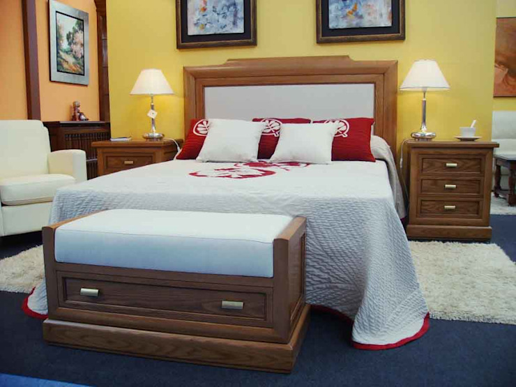 Aguirre Artesanos Fabricantes BedroomBeds & headboards Solid Wood Brown
