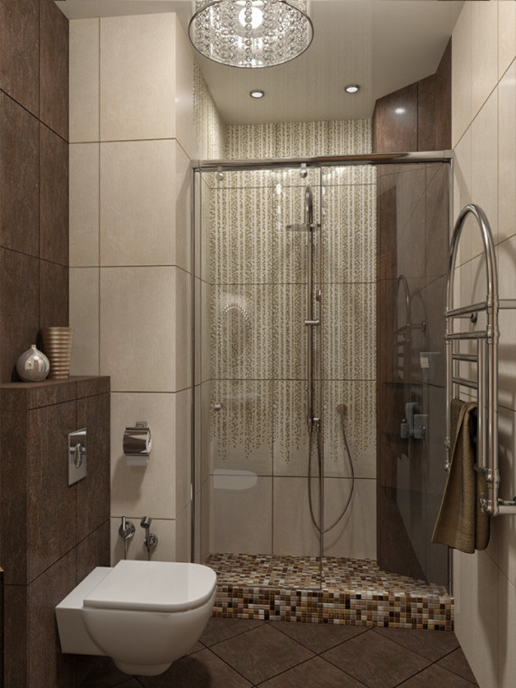 Alena Gorskaya Design Studio Country style bathrooms Beige