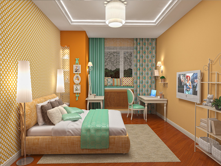 Alena Gorskaya Design Studio Nursery/kid's room Multicolored