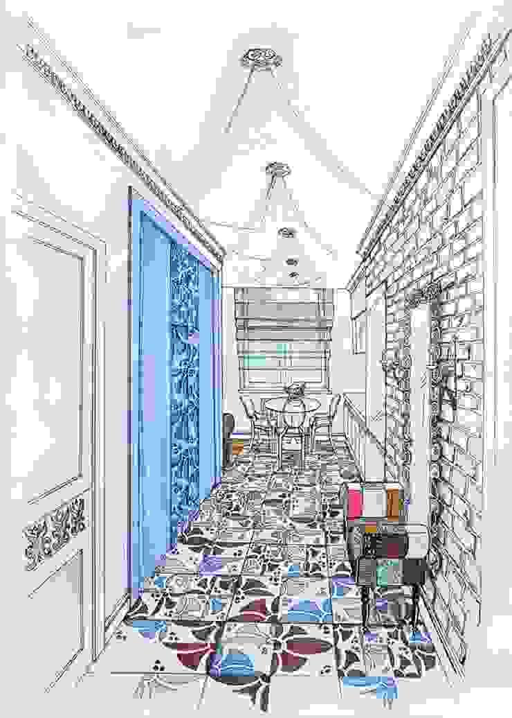 Moderner Flur, Diele & Treppenhaus von Alena Gorskaya Design Studio Modern