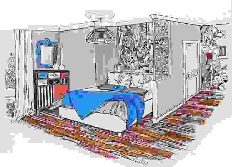 Chambre moderne par Alena Gorskaya Design Studio Moderne