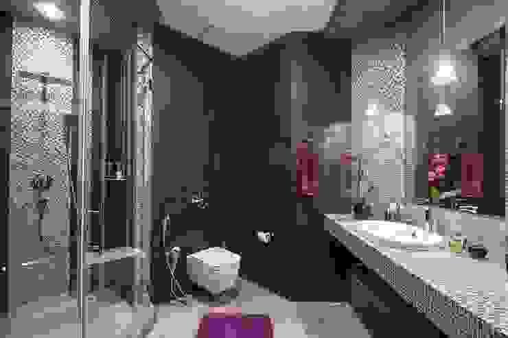 Alena Gorskaya Design Studio Salle de bain minimaliste Marron