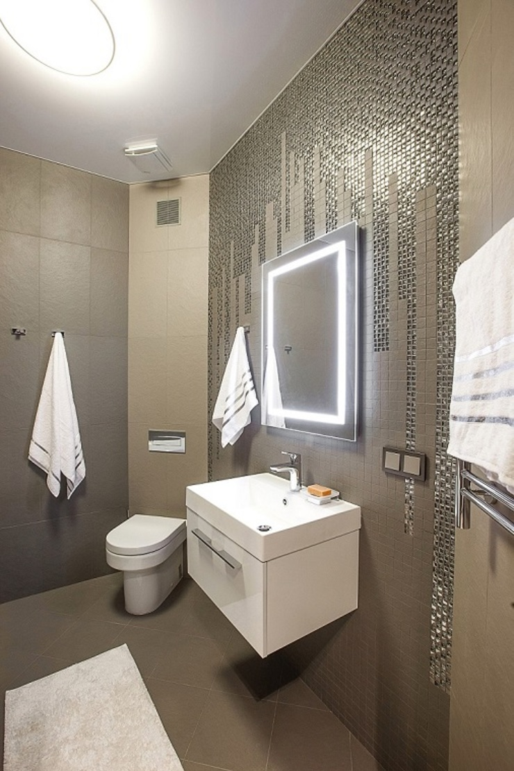 Alena Gorskaya Design Studio Minimalistische Badezimmer
