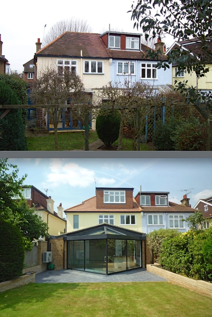 Before & After - rear Paul Wiggins Architects