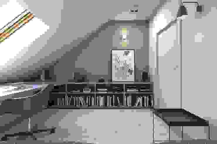 Estudios y despachos de estilo escandinavo de BAGUA Pracownia Architektury Wnętrz Escandinavo