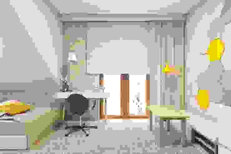 北欧デザインの 子供部屋 の BAGUA Pracownia Architektury Wnętrz 北欧