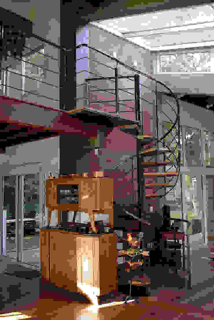 Squadra Arquitetura Modern living room Glass Transparent