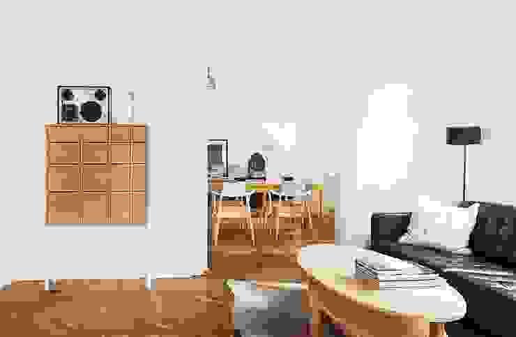 Шведский дом в Москве Гостиная в скандинавском стиле от K-Studio Скандинавский