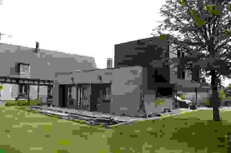 facade ouest Maisons modernes par Atelier d'Architecture Marc Lafagne, architecte dplg Moderne