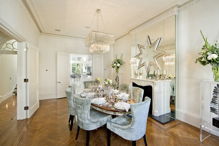 Dining room by Nash Baker Architects Ltd,