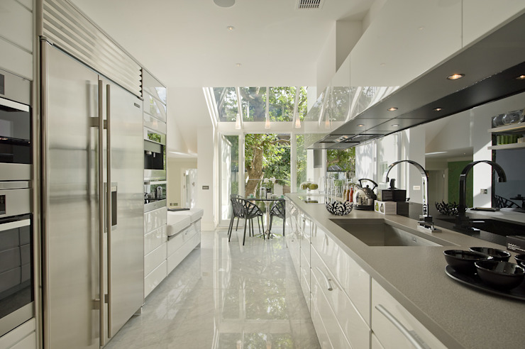 The Kitchen at the Chester Street House Klasik Mutfak Nash Baker Architects Ltd Klasik