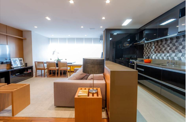 Compacto Salas de estar modernas por contato83 Moderno