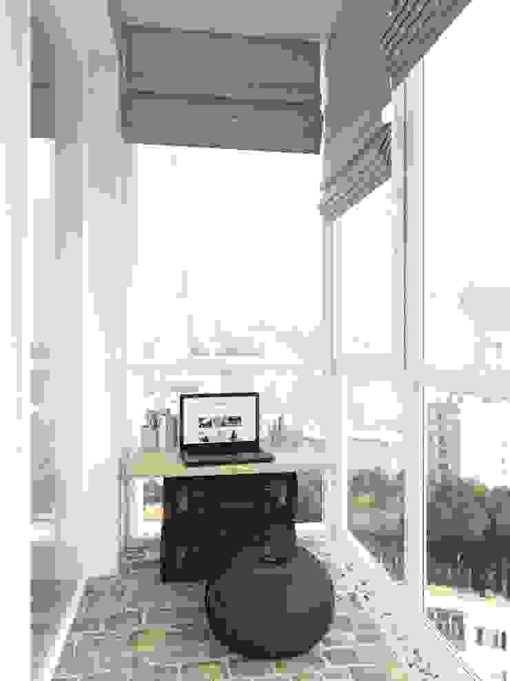 Холостяцкий Интерьер Балкон и веранда в стиле лофт от Tatiana Zaitseva Design Studio Лофт