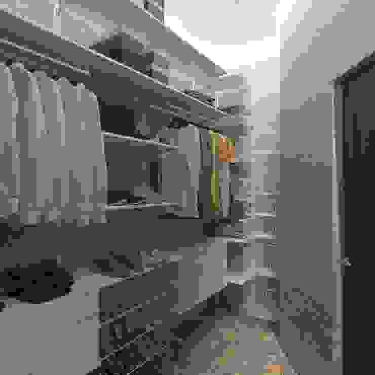 Spogliatoio in stile industriale di Tatiana Zaitseva Design Studio Industrial