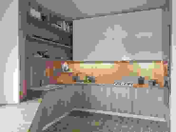 インダストリアルデザインの キッチン の Tatiana Zaitseva Design Studio インダストリアル