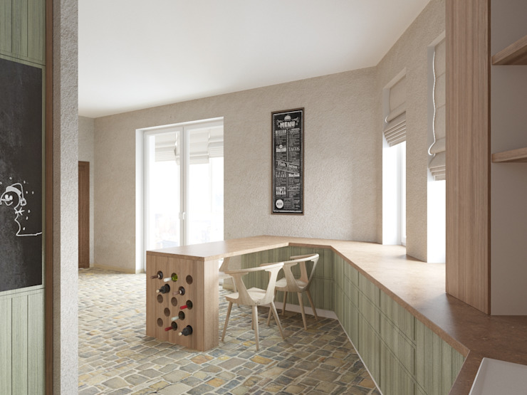 Холостяцкий Интерьер Кухня в стиле лофт от Tatiana Zaitseva Design Studio Лофт