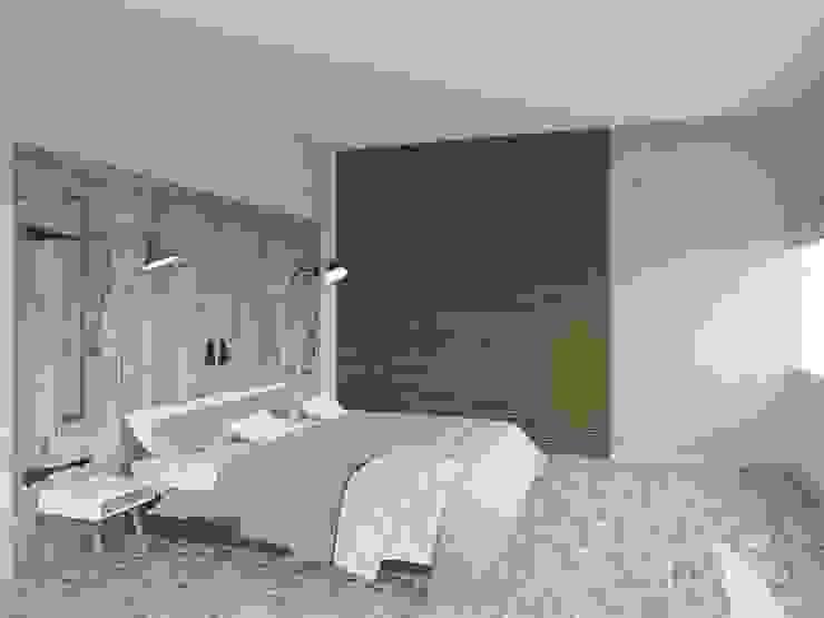 Холостяцкий Интерьер Спальня в стиле лофт от Tatiana Zaitseva Design Studio Лофт