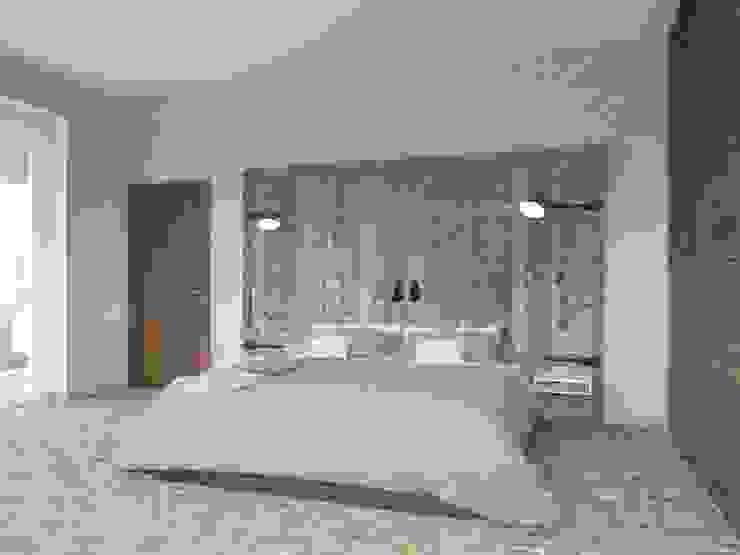 Camera da letto in stile industriale di Tatiana Zaitseva Design Studio Industrial
