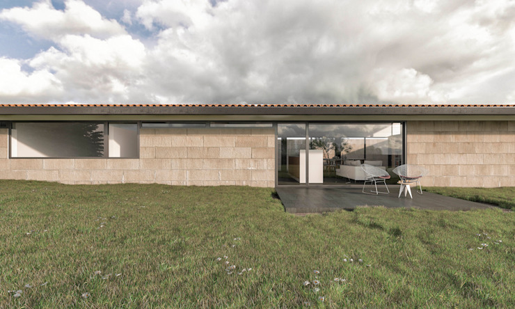 Houses by infografia 3D - arquitectura interior, Modern Granite