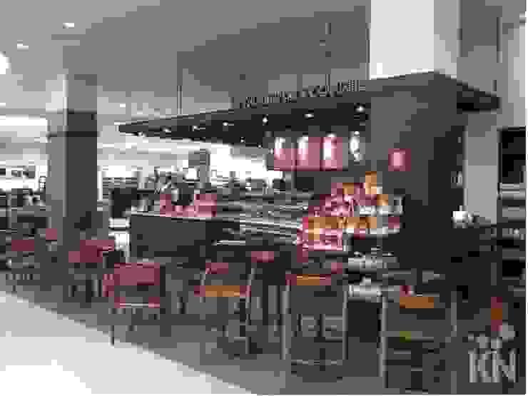 Starbucks - Jundiaí Shopping | SP Espaços gastronômicos modernos por KN Arquitetura Moderno