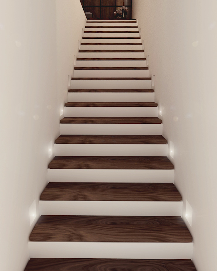 Modern Corridor, Hallway and Staircase by Taller 03 Modern Wood Wood effect