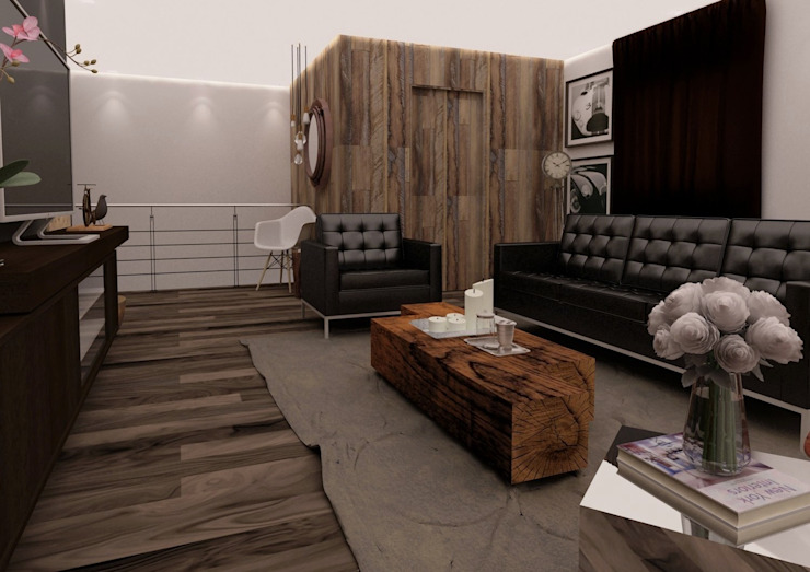 Scandinavian style corridor, hallway& stairs by Taller 03 Scandinavian Wood Wood effect